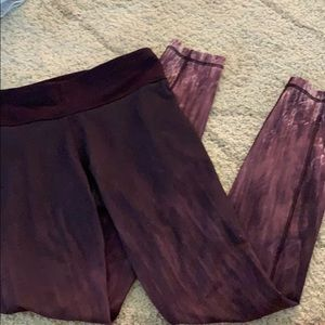 Under Armor purple fade leggings
